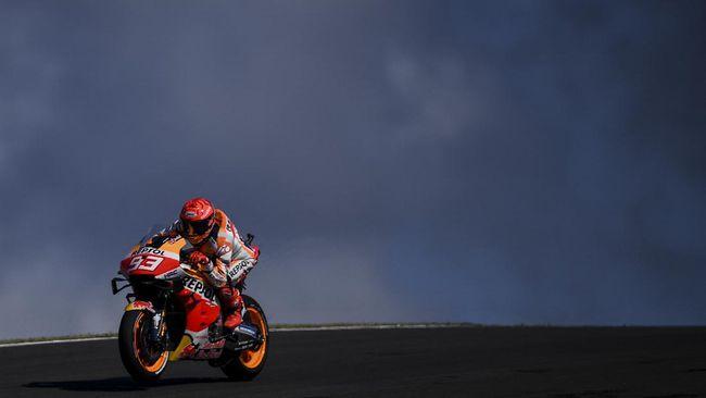 Marc Marquez menunjukkan perjuangan gigih saat merebut posisi start keenam MotoGP Portugal meski sempat tampil buruk di hari Sabtu.
