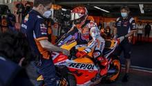 MotoGP Prancis: 2 Kali Jatuh, Marquez Marah pada Diri Sendiri