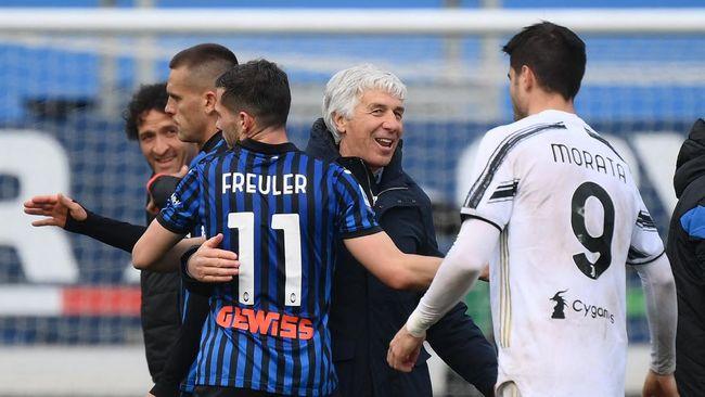 Juventus kalah dari Atalanta dalam lanjutan Liga Italia yang berlangsung di Stadion Gewiss, Minggu (18/4) malam WIB.