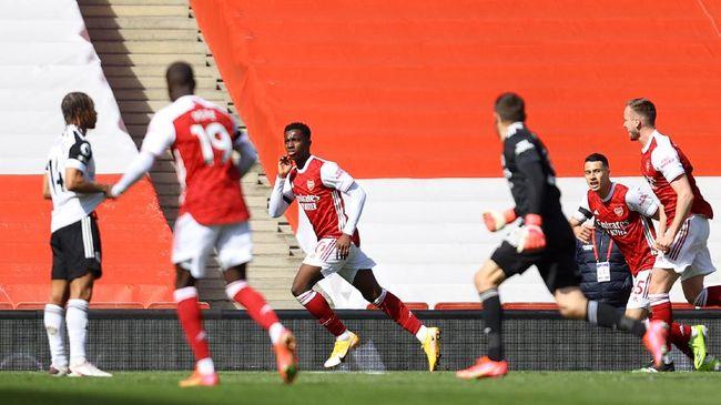 Arsenal nyaris gagal meraih poin dalam pertandingan lanjutan Liga Inggris yang berlangsung di Stadion Emirates, Minggu (18/4) malam WIB.
