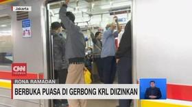VIDEO: Berbuka Puasa di Gerbong KRL Diizinkan