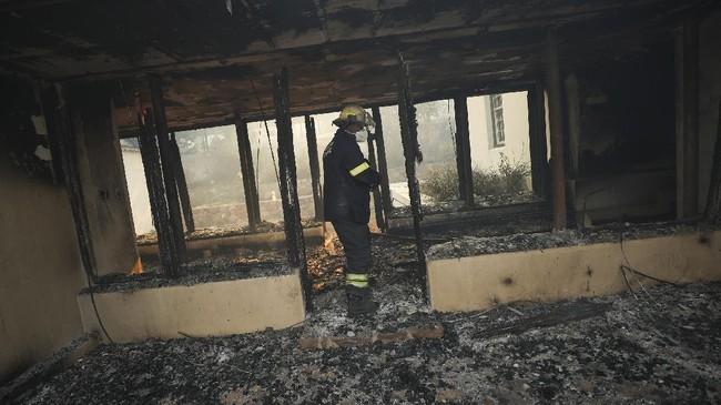 Kebakaran hutan di Cape Town, Afrika Selatan, menghanguskan dua bangunan bersejarah.
