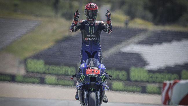 Pembalap asal Prancis Fabio Quartararo bakal start dari posisi terdepan pada MotoGP Prancis di Sirkuit Le Mans, Minggu (16/5).