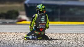 Rossi Ungkap Alasan Terjatuh di MotoGP Portugal