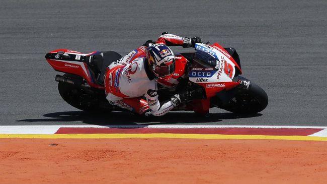 Pembalap Pramac Ducati, Johann Zarco muncul sebagai yang tercepat pada sesi tes bebas kedua (FP2) MotoGP Prancis di Sirkuit Bugatti, Jumat (14/5).