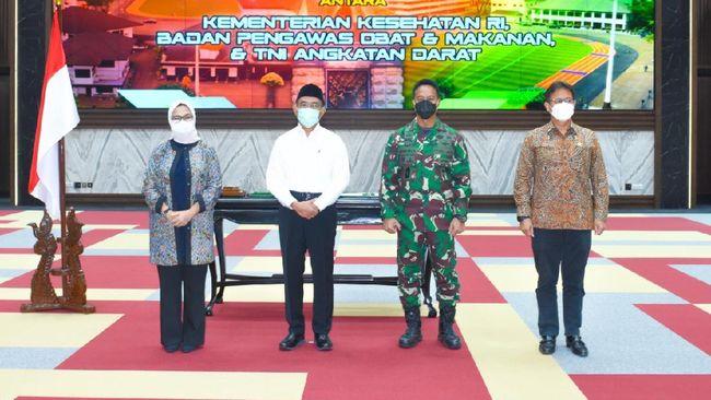 BPOM, Kementerian Kesehatan dan TNI meneken nota kesepahaman yang menyatakan proses pengembangan Vaksin Nusantara yang berlanjut kini sebatas penelitian.