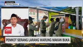 VIDEO: Pemkot Serang Larang Warung Makan Buka