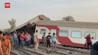 VIDEO: Kecelakaan Kereta Renggut 11 Nyawa di Mesir