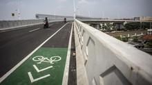 Mulai Uji Coba, Fly Over Cakung Turut Dilengkapi Jalur Sepeda
