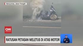 VIDEO: Ratusan Petasan Meletus di Atas Motor