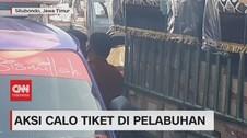 VIDEO: Aksi Meresahkan Calo Tiket di Pelabuhan