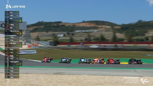 VIDEO: Momen Marquez Hampir Tabrak Mir di MotoGP Portugal