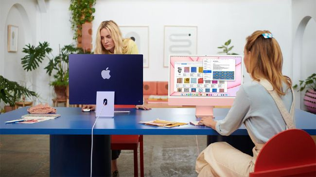 Apple luncurkan iMac baru pada 2021 di acara Spring Loaded yang memberikan tampilan warna-warni, bodi lebih tipis dan ringkas.