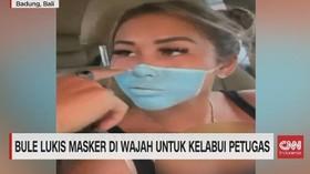 VIDEO: Bule Lukis Masker di Wajah Untuk Kelabui Petugas