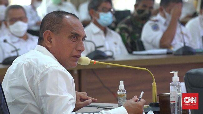 Kisruh data Covid di Medan dan Sumatera Utara berlanjut. Gubernur Sumut Edy Rahmayadi kembali menyentil Wali Kota Medan, Bobby Nasution.