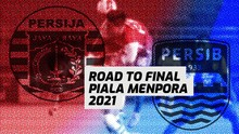 INFOGRAFIS: Road to Final Piala Menpora Persija vs Persib