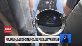 VIDEO: Usir Virus, Taksi Online Dilengkapi Air Purifier