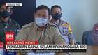 VIDEO: Prabowo Berharap Semua Awak KRI Nanggala 402 Ditemukan