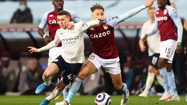 Manchester City menang 2-1 atas Aston Villa dalam pertandingan pekan ke-33 Liga Inggris di Stadion Villa Park, Kamis (22/4) dini hari waktu Indonesia.