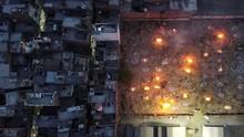 FOTO: Bara Kremasi Massal di Tengah Kobar Kasus Covid India