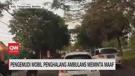 VIDEO: Pengemudi Mobil Penghalang Ambulans Minta Maaf
