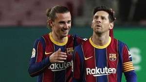 Messi Berikan Penalti kepada Griezmann di Barcelona vs Getafe