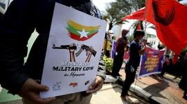 FOTO: Gelora Tolak Panglima Junta Militer Myanmar di Jakarta