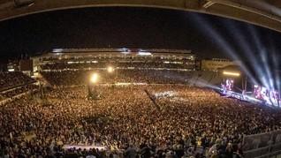 FOTO : 50 Ribu Orang Padati Konser Terbesar Sejak Pandemi