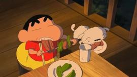 Sinopsis Shinchan: Very Tasty B-Class Gourmet Survival Part I