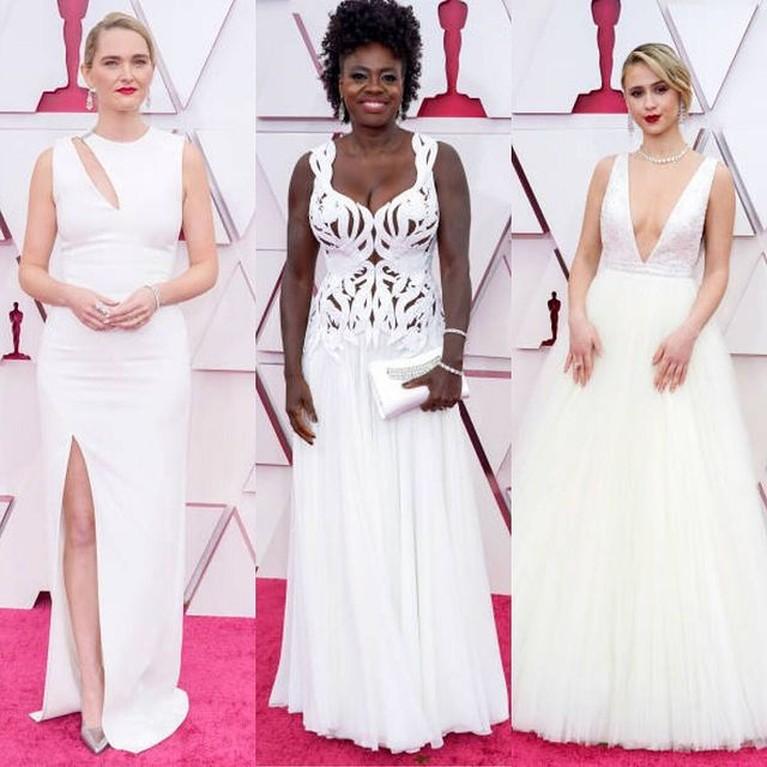 Academy Awards kembali menggelar gelaran Oscar tahun ini. Karpet merah sudah digelar, para artis sudah mulai berdatangan. Yuk kita intip busana para artis di Red Carpet Piala Oscar 2021!