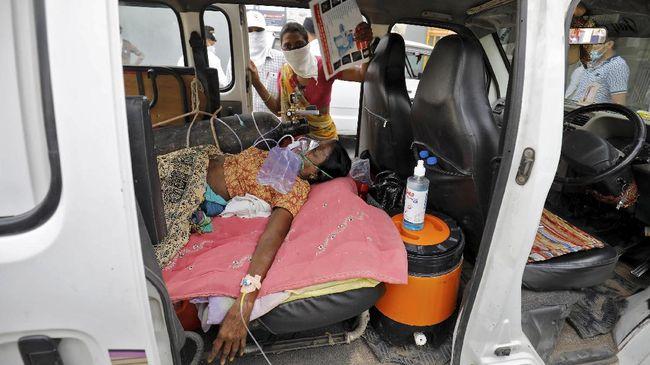 WHO menyatakan krisis virus corona di India diperburuk dengan sikap penduduk yang panik dan berbondong-bondong ke rumah sakit.