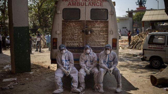 Sebanyak 4.187 warga tewas di India karena covid-19 dalam 24 jam terakhir sehingga total kasusnya mencapai 238.270 sejak awal pandemi.