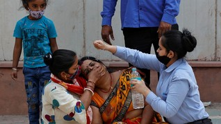 Kasus Covid-19 di India Pecah Rekor Tembus 362 Ribu