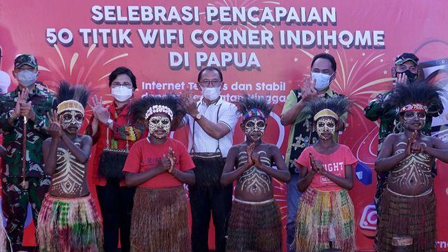 Dalam upaya mewujudkan tiga tujuan besar dalam program IndiHome Wonderful Papua, Telkom berhasil membangun 50 Wifi Corner IndiHome di seluruh wilayah Papua.
