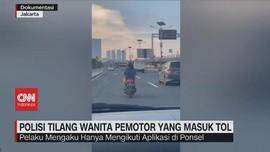 VIDEO: Polisi Tilang Wanita Pemotor yang Masuk Tol
