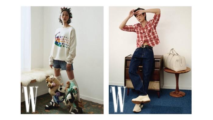 Enggak selalu tampil glamor, si kembar juga kece abis kalau pakai outfit yang casual / foto: wkorea.com
