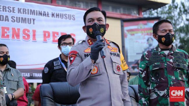Kapolda Sumut Irjen Panca Putra menyatakan Rp30 juta yang diperoleh tersangka merupakan keuntungan bersih per hari.