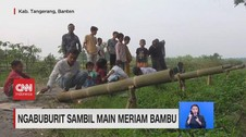 VIDEO; Ngabuburit Sambil Main Meriam Bambu