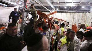 FOTO: Kala Ziarah Umat Yahudi Israel Berubah Jadi Musibah