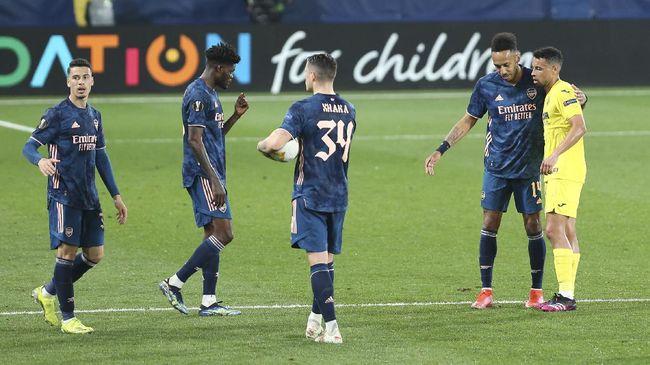 Pelatih Arsenal Mikel Arteta mengatakan timnya telah hancur setelah tersingkir dari Liga Europa 2020/2021.
