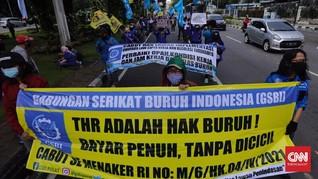 3.452 Buruh Adukan Pelanggaran THR, Sebagian Diganti Kado