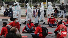 Tak Jaga Jarak, 30 Mahasiswa di Demo May Day Diamankan