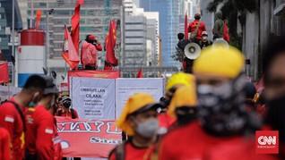 Aksi May Day di Patung Kuda Usai, Buruh Mulai Bubarkan Diri