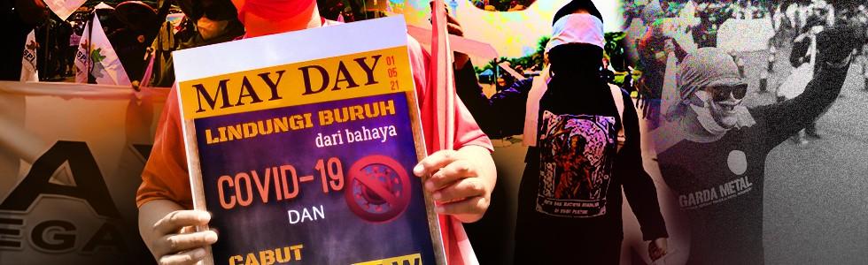 Aksi Buruh di May Day 2021