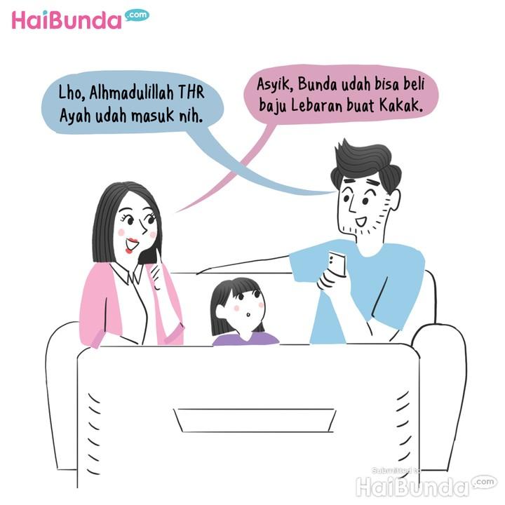Komik Bunda, Bayar Zakat dari THR Ayah