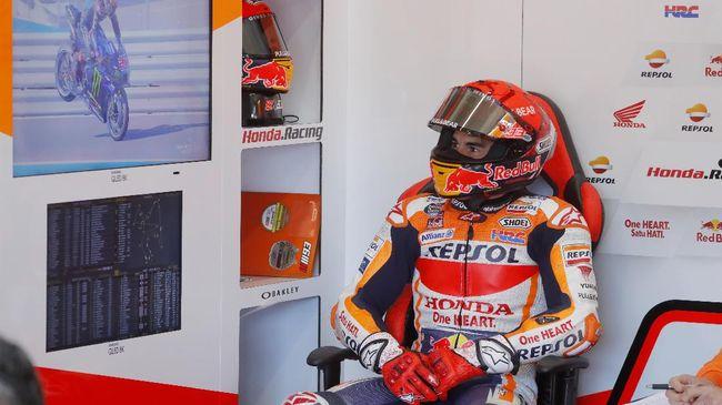 Pembalap Repsol Honda, Marc Marquez, membeberkan alasan kemarahannya usai kecelakaan di tikungan kedua latihan bebas kedua MotoGP Aragon 2021.