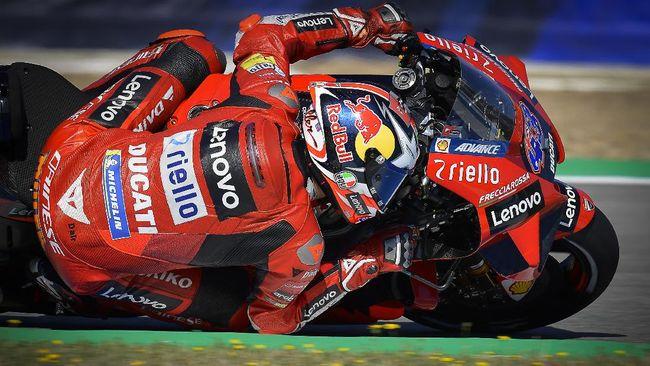 Pembalap Ducati, Jack Miller jadi yang tercepat pada sesi tes bebas pertama (FP1) MotoGP Prancis di Sirkuit Bugatti, Jumat (14/5).