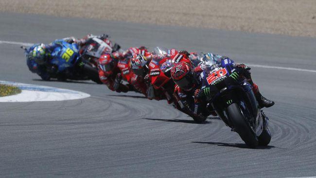Live streaming MotoGP Prancis 2021 bisa disaksikan melalui CNNIndonesia.com, Minggu (16/5) malam waktu Indonesia.