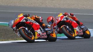 Marquez Marah Dua Pembalap Honda Jatuh di FP2 MotoGP Belanda
