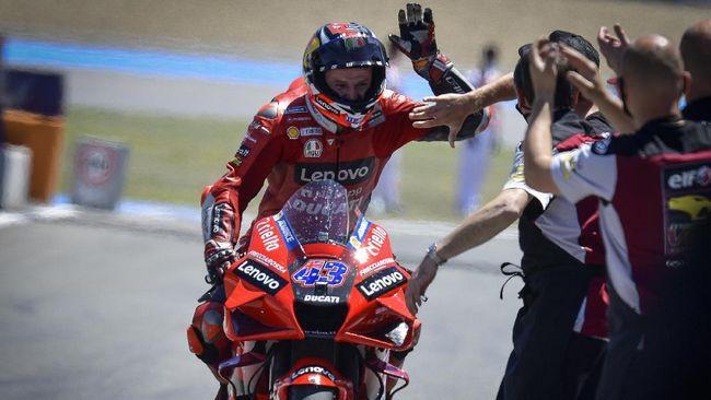 Jack Miller menang MotoGP Spanyol dengan mengalahkan Francesco Bagnaia dan Franco Morbidelli. Berikut sejumlah fakta menarik usai Miller menang MotoGP Spanyol.